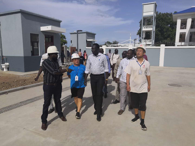 南苏丹副总统瓦尼再次视察中国援南苏丹朱巴教学医院改扩建项目