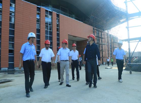国家国际发展合作署政策和规划司副司长张黎华一行到援孟加拉国孟中友谊展览中心项目调研指导工作